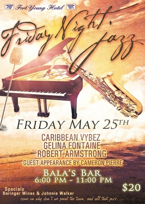 Friday Night Jazz, Fort Young Hotel, Dominica, May 25  2012