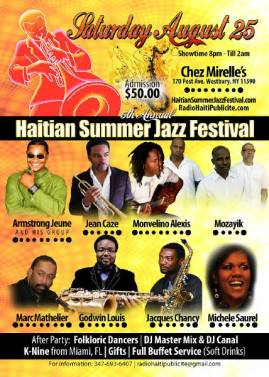 5th Annual Haitian Summer Jazz Festival, August 25  2012
